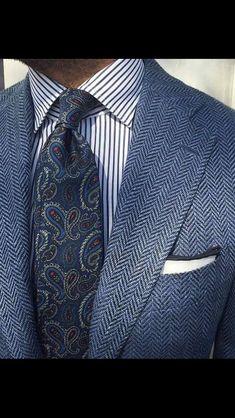 Sharp grey blue suit