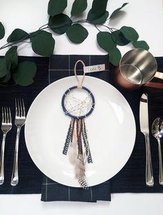 bohemian wedding table setting