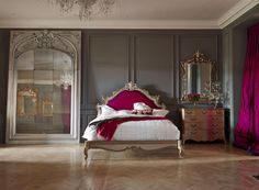 Bespoke Bed Frames | AND SO TO BED - Great Mirror and colour combo