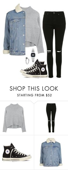 """Untitled #18"" by ijustwanttobe ❤ liked on Polyvore featuring Topshop, Converse, Casio and Chrome Hearts"