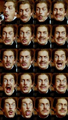 Vincent Price as Fortunato Luchresi in Roger Corman's Tales of Terror (1962). The sequence shows Luchresi's preparation for the wine tasting duel with Montresor (Peter Lorre). Ganz großes Kino. :-)
