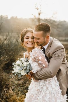 Wedding / Weddingdress / Sunsetshoot / Sunset / Couple / Bouquet /Eucalyptus /Groom / Suit / Hochzeit / Hochzeitskleid S. Wedding Poses, Wedding Photoshoot, Wedding Groom, Wedding Couples, Wedding Dresses, Wedding Ceremony, Wedding Tips, Wedding Picture Poses, Wedding Couple Photos