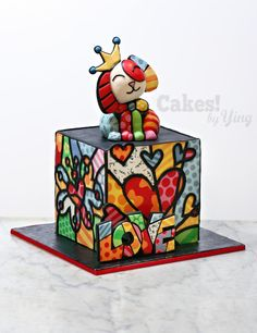 Britto LOVE Cake - cake by Cakes! by Ying