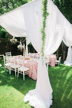 A ROYAL PRINCESS HIGH TEA GARDEN BIRTHDAY PARTY -birthday party tent