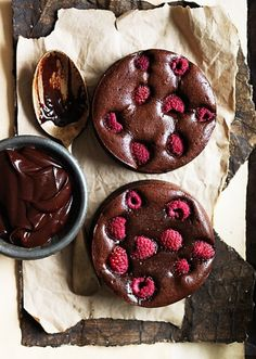 Dark Chocolate and Raspberry Brownies | Photo by Chris Court Photography | Recipe: http://www.perthnow.com.au/news/donna-hay-brownies/