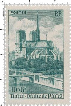 France Stamp - Notre-Dame de Paris (1947)