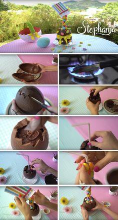 chocolate, ovo de chocolate, ovo de páscoa, ovinhos decorados, receitas com chocolate, ovo anti-gravidade, Paula Stephania