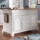 Found it at Wayfair - Mirren Harbor Kitchen Island with pull out table and organized drawers/cabinets