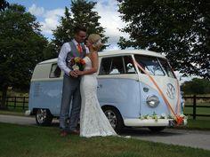 Beautiful split screen wedding transport
