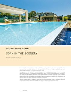 Melbourne Pool + Outdoor Design | Warrandyte New Home Builders, Resort Style, Travertine, Melbourne, Backdrops, Scenery, New Homes, Water, Outdoor Decor