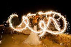 Sparklers at night! The Wedding Connection- Granbury, Texas