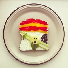 Munch: Famous Master Pieces as Food