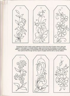 Paper Embroidery Patterns Could be done in embroidery and then made into bookmarks! pergamano - Page 10 Paper Embroidery, Silk Ribbon Embroidery, Embroidery Applique, Cross Stitch Embroidery, Embroidery Patterns, Machine Embroidery, Embroidery Tools, Parchment Cards, Craft Patterns