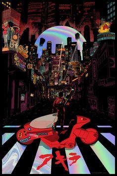 Art Cyberpunk, Cyberpunk Aesthetic, Japanese Poster, Japanese Art, Manga Akira, Aesthetic Art, Aesthetic Anime, Akira Poster, Arte Dark Souls