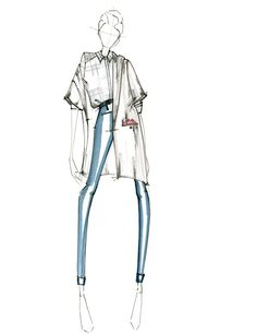 32 Ideas for fashion design sketches casual art – fashion portfolio ideas Fashion Design Sketchbook, Fashion Illustration Sketches, Fashion Design Drawings, Fashion Sketches, Croquis Fashion, Fashion Design Illustrations, Illustration Courses, Illustration Flower, Medical Illustration