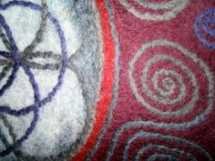 Detail from a felted mandala