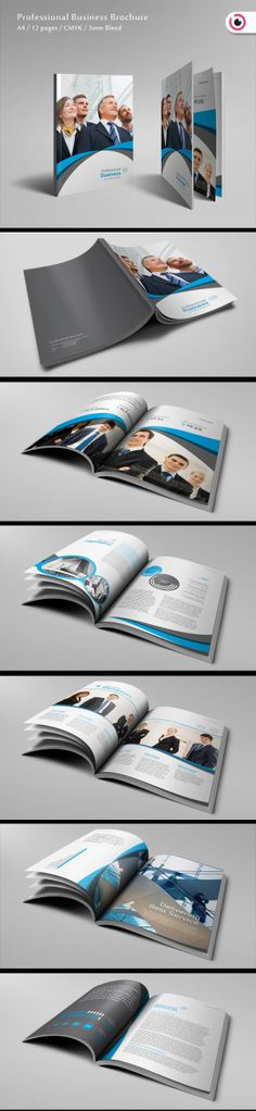 Professional Business Brochure Template by Tony Huynh, via Behance