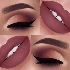 Makeup tutorial for brown eyes winged liner eyeliner Ideas Make-up-Tu Makeup Eye Looks, Makeup For Brown Eyes, Cute Makeup, Gorgeous Makeup, Simple Makeup, Brown Eyeliner, Amazing Makeup, Eyebrow Makeup, Eyeshadow Makeup
