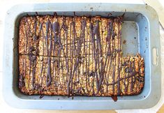 Time: 10 minutes hands-on + 40 minutes cooking Makes: 12 bars Healthy Cooking, Healthy Snacks, Muesli Bars, Healthy Gluten Free Recipes, Dietitian, Nut Free, Banana, Tasty, Nutrition