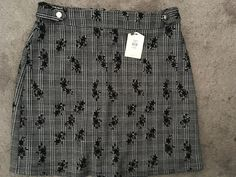Bnwt womens /Ladies Oasis Black & White Short Skirt Size S / 8  #Oasis #ALine