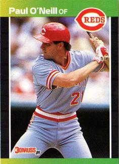 1989 Donruss Baseball Card of Paul O Neill Cincinnati Reds Baseball ff5b4b1bf