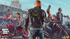 General 3840x2160 Rockstar Games Grand Theft Auto Online Grand Theft Auto V gun motorcyclist chopper tattoo bar
