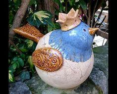 ...ein hübscher Zaunkönig als Gartendeko...Preis gilt pro Vogel Höhe  ca. 19cm, je ca.20cm lang