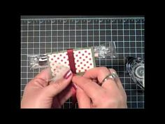 Stampin Up!  Delightful Decorations Christmas Treat Wrap Video Tutorial