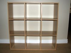 building a cube bookshelf like ikea's expedit collection.    Perfect for records!