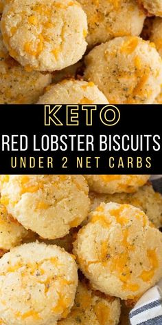 You will love these easy Keto Cheddar Garlic Biscuits they are a perfect Low Carb Red Lobster Biscuit Copycat Only 2 net carbs each and loaded with flavor keto # Cheddar, Ketogenic Recipes, Low Carb Recipes, Bread Recipes, Ketogenic Diet, Healthy Recipes, Flour Recipes, Healthy Fats, Easy Recipes