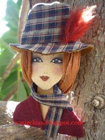 Hoy la entrada va dedicada a grandes artistas, artesanas que con sus manos crean verdaderas obras de arte.     La primera nenita fue para L... Felt Ornaments Patterns, Handmade Dolls, Disney Characters, Fictional Characters, Clay, Embroidery, Disney Princess, Crafts, Feltro