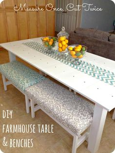 Measure Once, Cut Twice: DIY Farmhouse Table