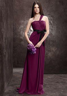 White By Vera Wang   Elegant One Shoulder Purple Evening Dress with Asymmetrical Draping - Hong Kong   LMR Weddings