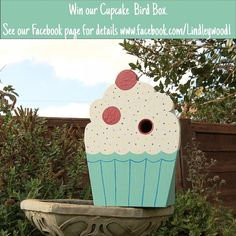 For the cake lover the Great British Bake Off watcher and the baker we have our unusual cupcake bird box to giveaway in our facebook competition.  And if you want you buy one it's exclusively available from the Lindleywood store at @notonthehighstreet. #bakeoff #gbbo #cupcake #handmade #smallbusiness #creativebusiness #woodwork #unusual #birdhouse #birdbox #competition #notonthehighstreet #lessordinary #baking by lindleywood