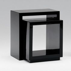 milos square and box end tables
