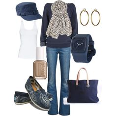 casual, created by wishesndreams on Polyvore