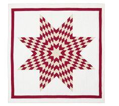 Red Starburst Patchwork Quilt & Sham | Pottery Barn