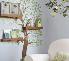 Decorar la pared con un árbol #1000detalles1000ideas