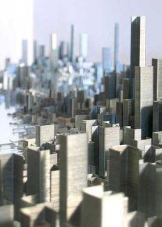 """""""plasticdreams: ホッチキスの針で高層ビルを表現してみた。 on Twitpic """""""