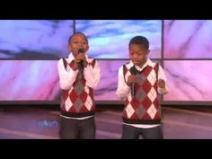 10-Year-Old Twins Sing for Ellen....slipped these guys into Little Girls Singing