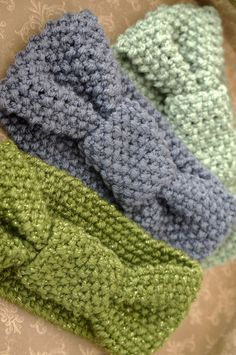 Big Bow Knitted Headband by MumChkins on Etsy
