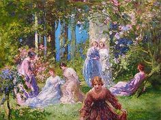 Thomas Edwin Mostyn - Spring Gardens