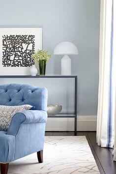 Parma Gray, Farrow & Ball; Transitional Living Room by Eoin Lyons Interiors
