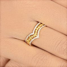 Ring Size US Gold Weight gm. Diamond Crown, Mother Jewelry, Solid Gold Jewelry, Indian Dresses, Cocktail Rings, Ring Designs, Diamond Engagement Rings, Wedding Rings, Yellow