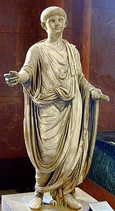 Statue of Nero as a child wearing a bulla. It has been suggested that the bulla was worn by boys until the end of puberty, whereupon the pendant was offered to the family Lares. Ancient Aliens, Ancient Rome, Ancient Greece, Ancient History, Roman Sculpture, Sculpture Art, Roman History, Art History, Rome Antique