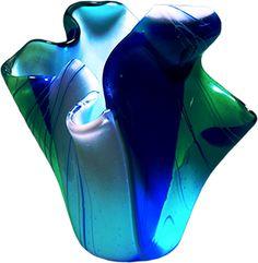 Slumped and Fused Glass Vase