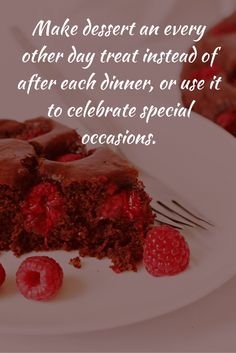 Healthy Eating Tip for Busy People 2 of 10 - Make dessert an every other day treat Healthy Eating Tips, Special Occasion, Beef, Treats, Dinner, Desserts, People, How To Make, Food