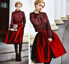 In Love With Fashion Sweater, Choies Skirt