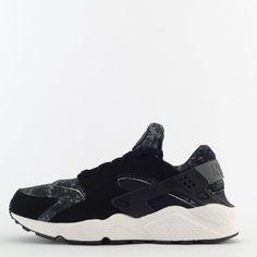 san francisco 26d59 31c90 Nike Air Huarache Camo Print Mens Casual Trainers Shoes Sneakers Black Grey…