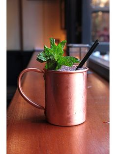 The Moscow Mule and other classic cocktails.... we love them served in a metallic cup!